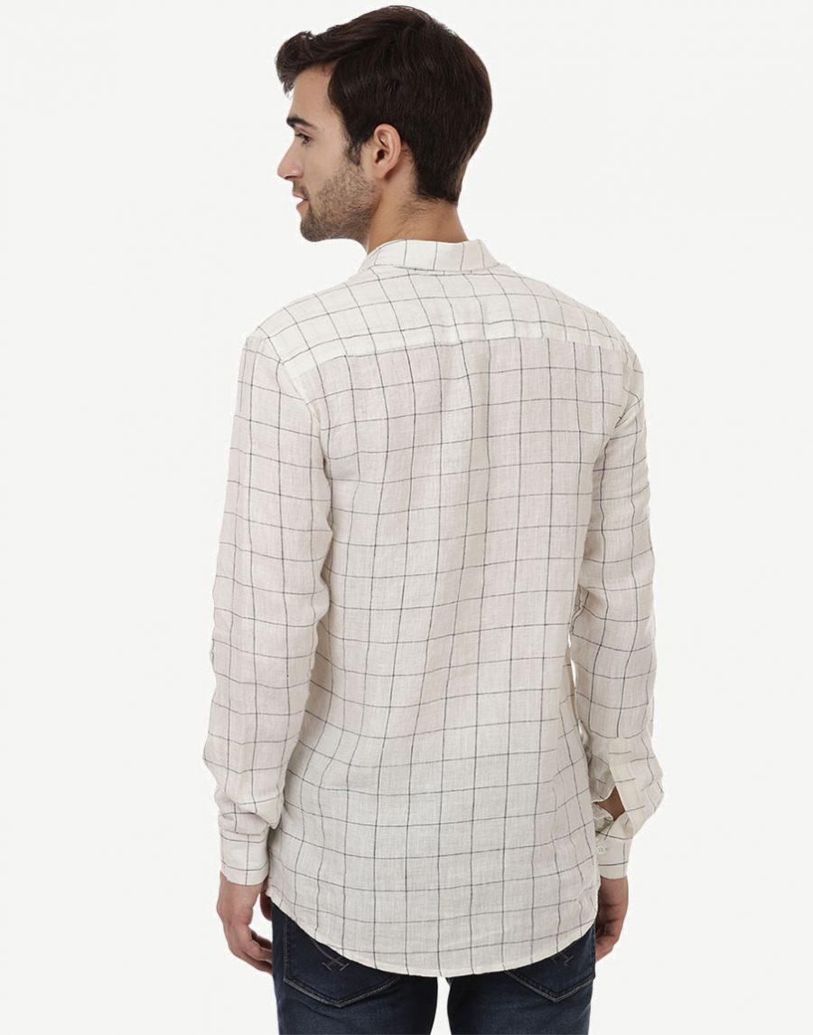 White Checkered Shirts