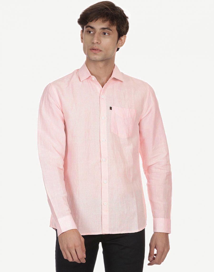 Light Pink Men's Shirt - Linen