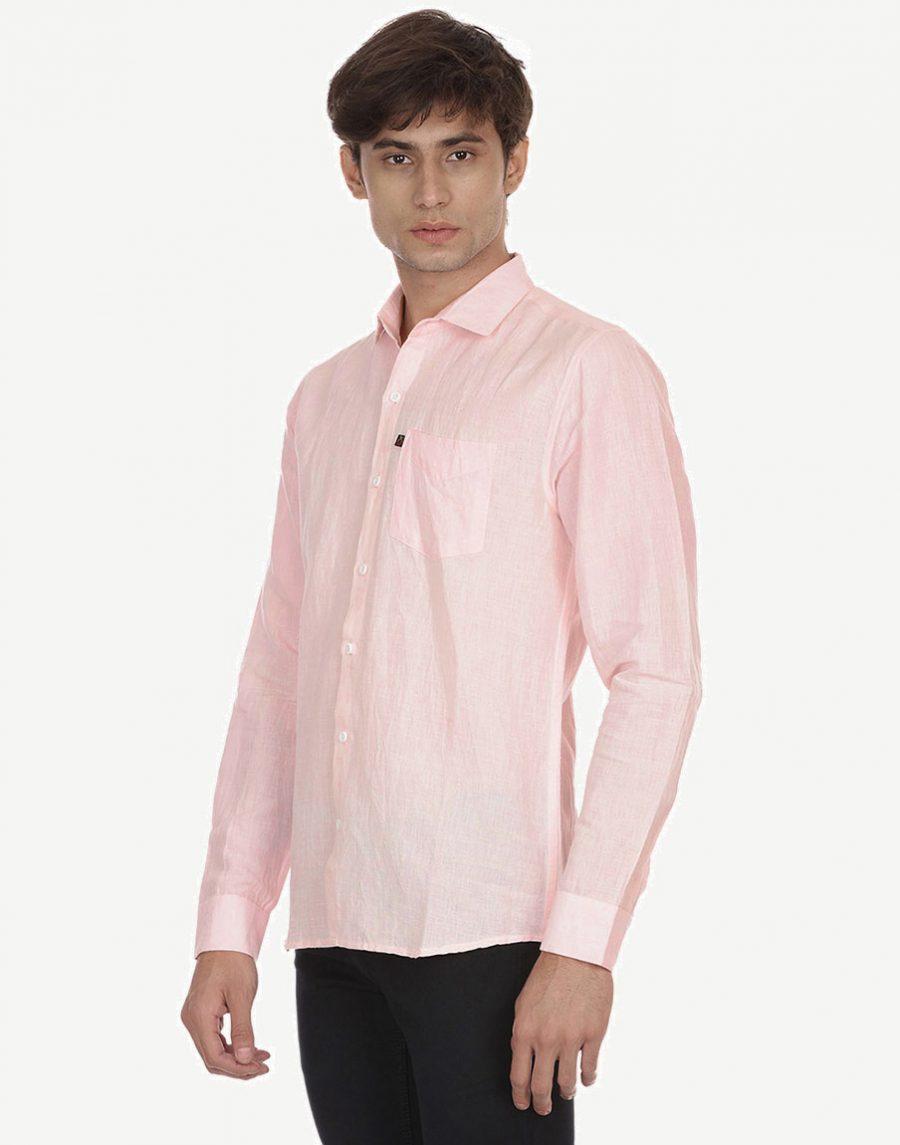 Light Pink Linen Shirts for Men
