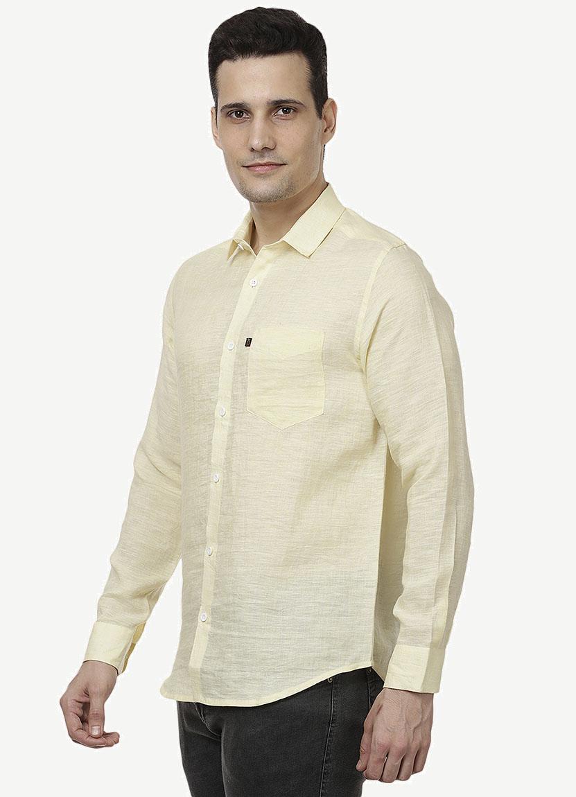 Light Yellow Linen Shirts