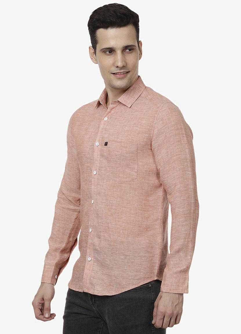 Light Pink Linen Shirt - Pure linen