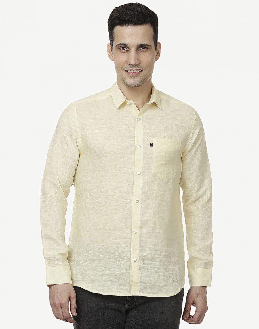 Men's Yellow Casual Shirt